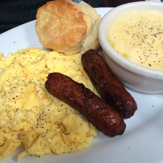 2 Eggs, Sausage Link, Grits at Brenda's French Soul Food on #foodmento http://foodmento.com/place/585
