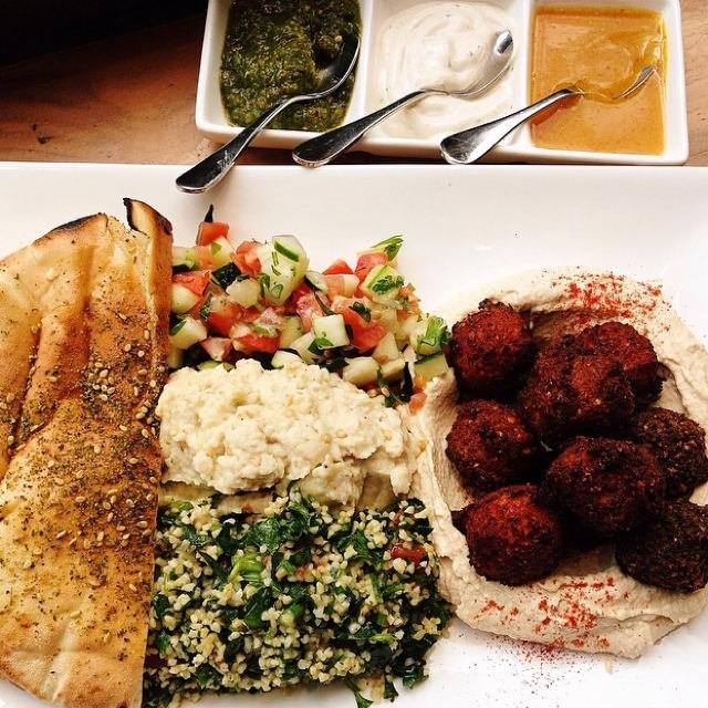 Mixed Falafel Platter at Taïm Falafel and Smoothie Bar on #foodmento http://foodmento.com/place/1254
