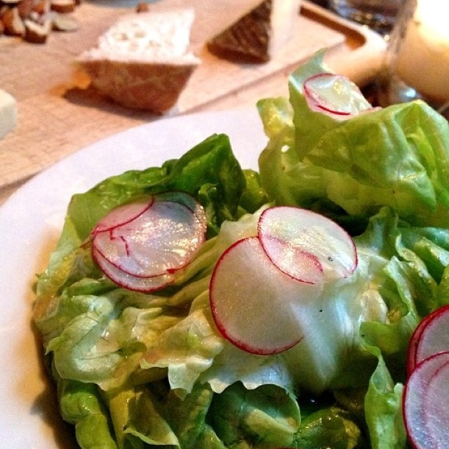Bibb Lettuce and Shaved Radish at The Smile on #foodmento http://foodmento.com/place/1301