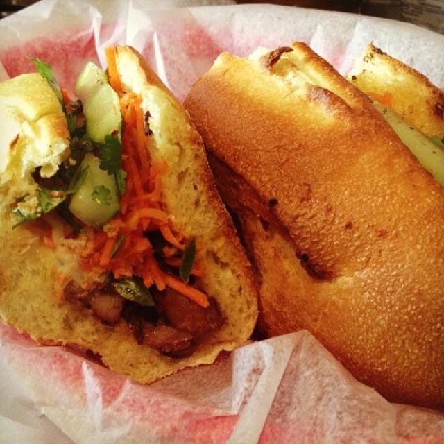 The Pilot Sandwich (Lemongrass Chicken) at Xe Máy Sandwich Shop on #foodmento http://foodmento.com/place/2883