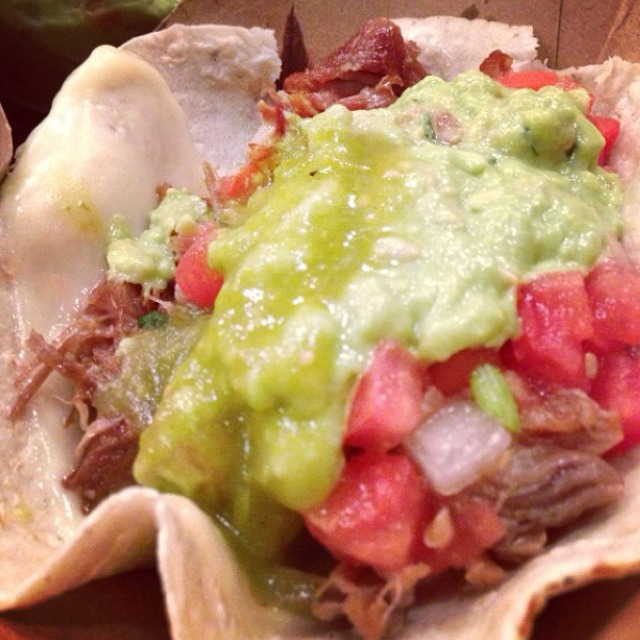 Carnitas (Braised Pork) Taco at Dos Toros Taquería on #foodmento http://foodmento.com/place/2894