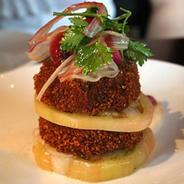 Pork Croqueta with Lentils and Porcini Mostaza at Casa Mono / Bar Jamon on #foodmento http://foodmento.com/place/289