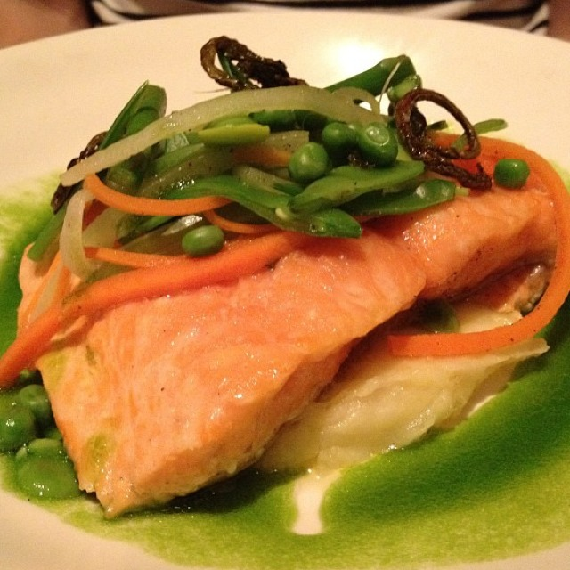 Slow Cooked Salmon at Nougatine at Jean Georges on #foodmento http://foodmento.com/place/292
