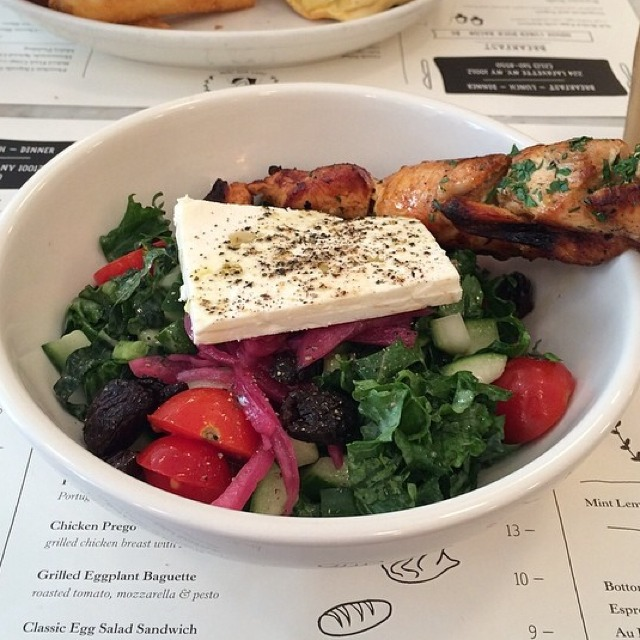 Greek Salad (Kale, Cucumber, Tomato, Pickled Red Onion...) at Jack's Wife Freda on #foodmento http://foodmento.com/place/3009