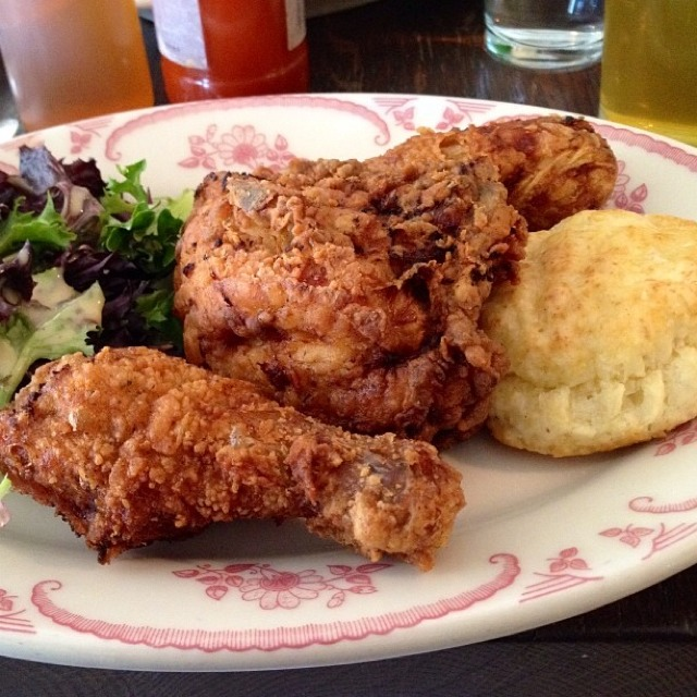 Fried Chicken Supper (3 Piece, Biscuit, Slaw) at Bobwhite Counter on #foodmento http://foodmento.com/place/3015