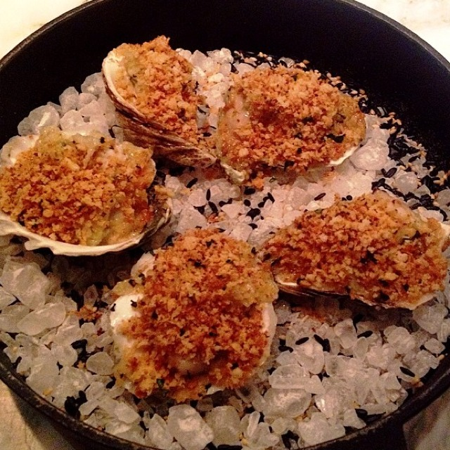 Baked Oysters - Appetizers​ at Narcissa on #foodmento http://foodmento.com/place/3155