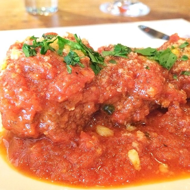Fontina Stuffed Meatballs at Bar Primi on #foodmento http://foodmento.com/place/3377