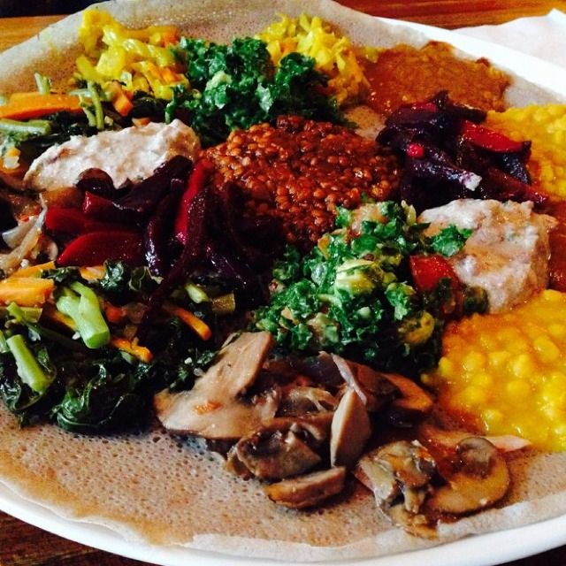 Ethiopian Mixed Platter at Bunna Cafe on #foodmento http://foodmento.com/place/4149