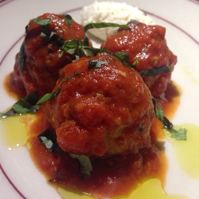 Housemade Meatballs, Fresh Ricotta at Bread & Tulips on #foodmento http://foodmento.com/place/4644