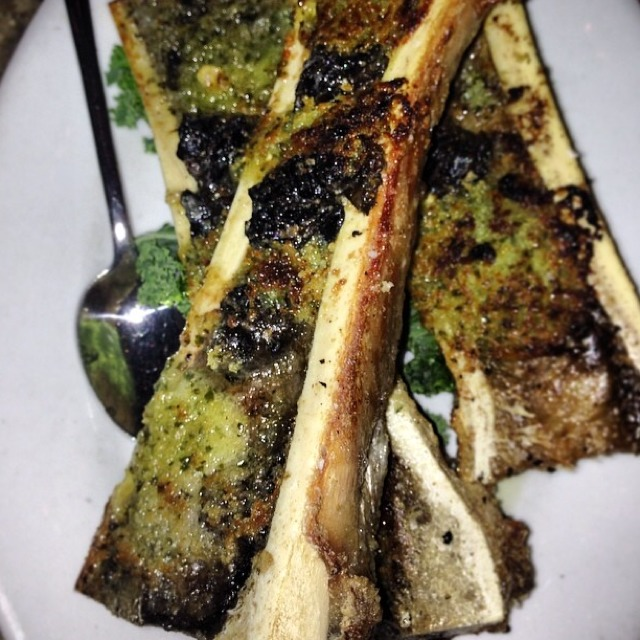 Roast Bone Marrow W/ Escargot Bourgogne (20Min.)- 3 Bones - Insalata‎ at Crispo on #foodmento http://foodmento.com/place/4672