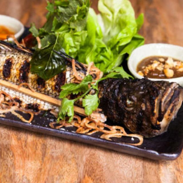 Whole Grilled Black Bass (Ping-Pa) at Khe-Yo on #foodmento http://foodmento.com/place/4702