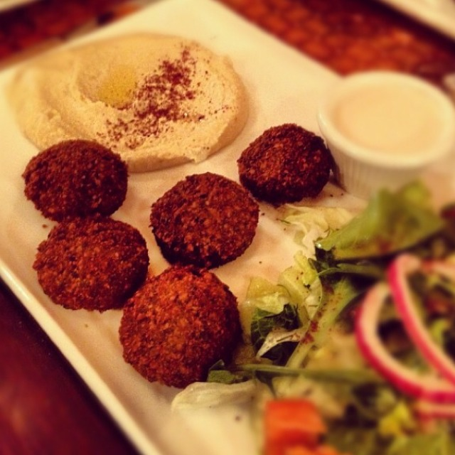 Falafel and Hummus at Waterfalls Café on #foodmento http://foodmento.com/place/4777