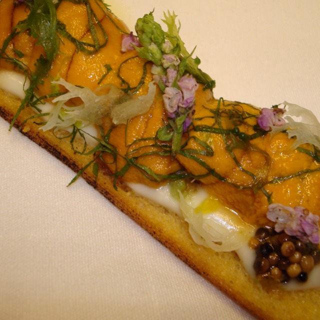 Sea Urchin Toast at Aldea on #foodmento http://foodmento.com/place/812