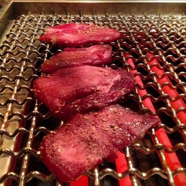 Grilled Tan-Saki, Tan-Suji & Tan-Moto (The Tongue Experience) at Takashi (CLOSED) on #foodmento http://foodmento.com/place/961