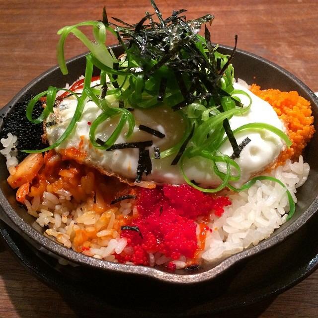 Rainbow Rice, Tabiko, Fried Egg at Mōkbar on #foodmento http://foodmento.com/place/3541