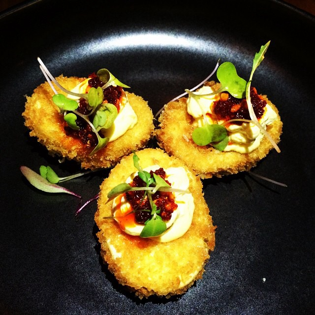 Crispy Deviled Eggs with Chili at tuome on #foodmento http://foodmento.com/place/3864