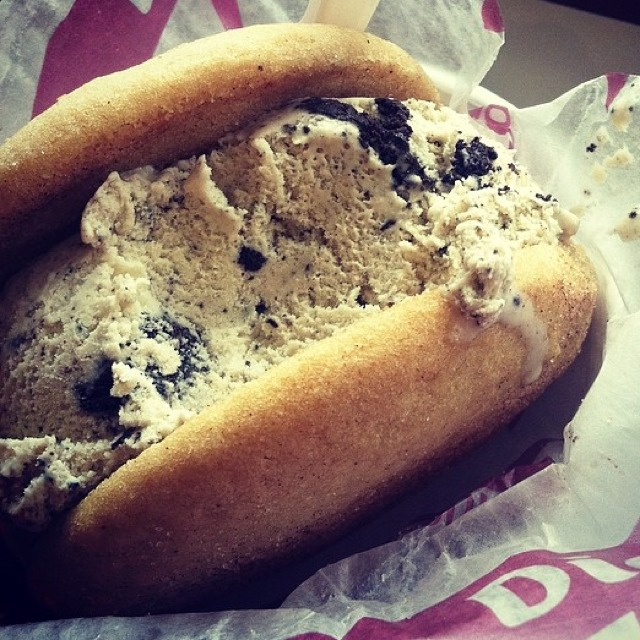 Cookies & Cream Ice Cream Sandwich at Diddy Riese on #foodmento http://foodmento.com/place/2746