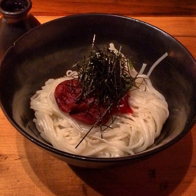 Cold Soba Noodles With Plum Paste at Sakagura on #foodmento http://foodmento.com/place/2510