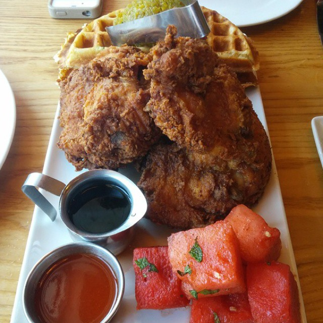 Fried Chicken N' Watermelon N' Waffles on #foodmento http://foodmento.com/dish/16208