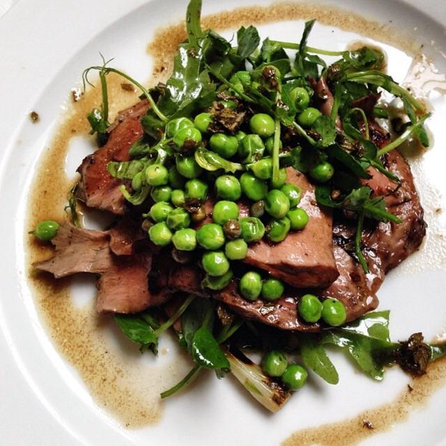 Grilled Lamb Hearts, Peas, Peashoots... on #foodmento http://foodmento.com/dish/17083