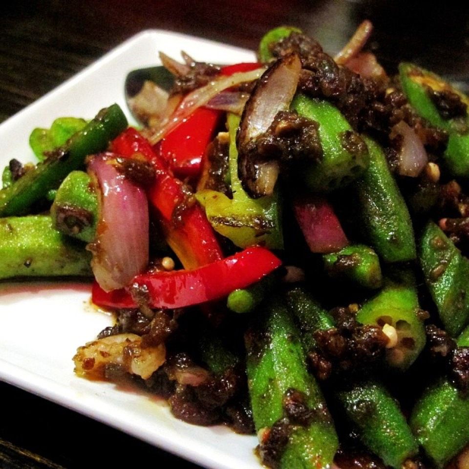 Okra (Lady Fingers), Fried Belacan, Petai Beans, Assorted Vegetables... on #foodmento http://foodmento.com/dish/16867