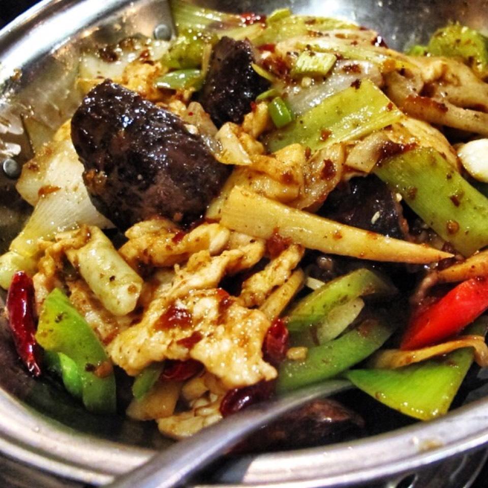 Dry Pot Style Chicken, Mushrooms, Bamboo Shoots... on #foodmento http://foodmento.com/dish/20546