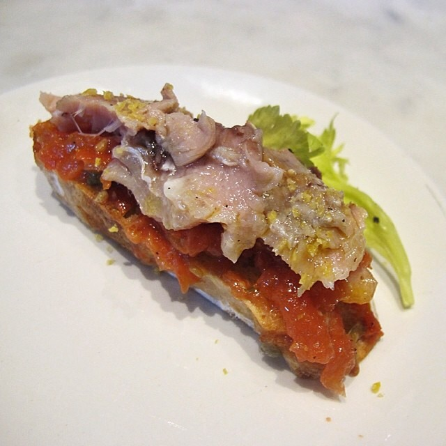 Ventresca (Spanish Tuna Belly) Pintxo on #foodmento http://foodmento.com/dish/17156