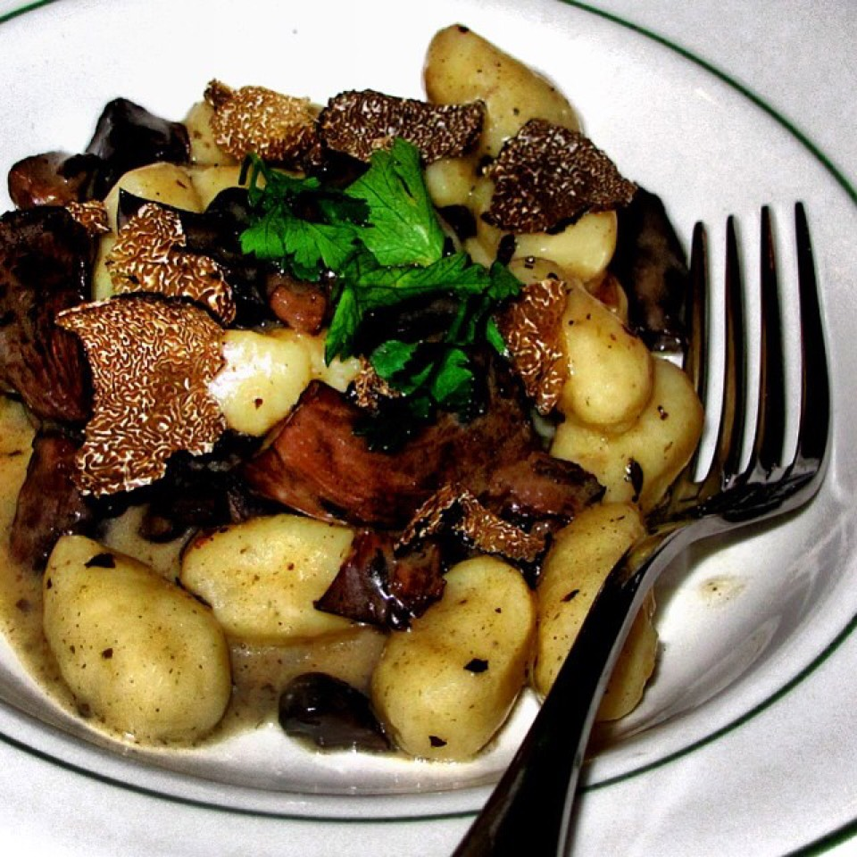 Gnocchi With Mushroom Ragu, Black Truffles at Rosemary's Enoteca & Trattoria on #foodmento http://foodmento.com/place/3228
