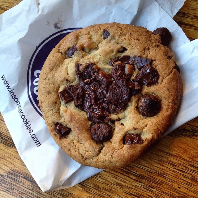 Triple Chocolate Chunk Cookie at Insomnia Cookies on #foodmento http://foodmento.com/place/4034