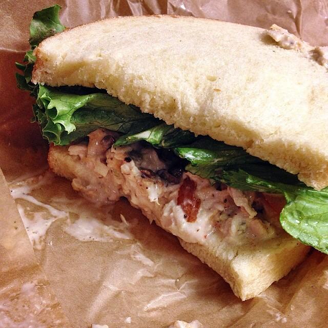 Napa Almond Chicken Salad Sandwich on #foodmento http://foodmento.com/dish/16978