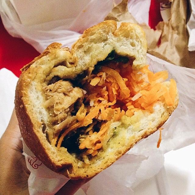 Lin-Sanity Banh Mi (Three Cup Chicken, Basil...) on #foodmento http://foodmento.com/dish/16991