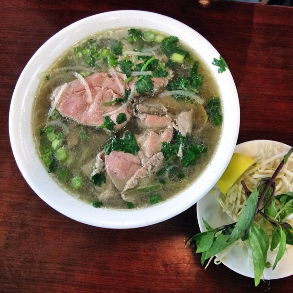 Pho Noodle Soup With Beef Flank at Pho Bac on #foodmento http://foodmento.com/place/5148