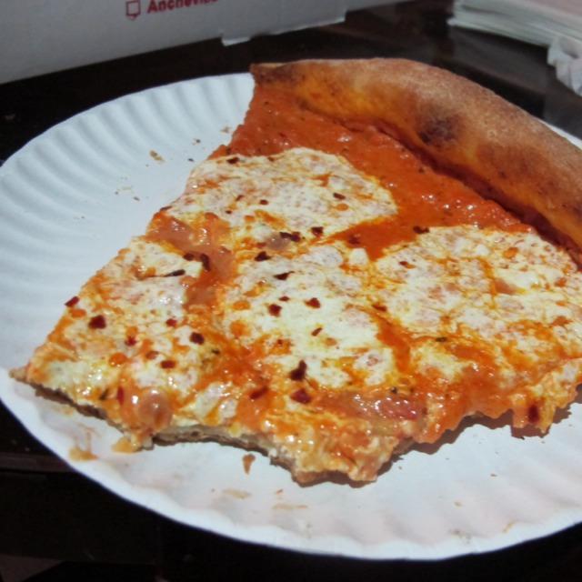 Alla Vodka Pizza (with Pecorino and mozzarella) at Rocco's Pizzeria on #foodmento http://foodmento.com/place/5544