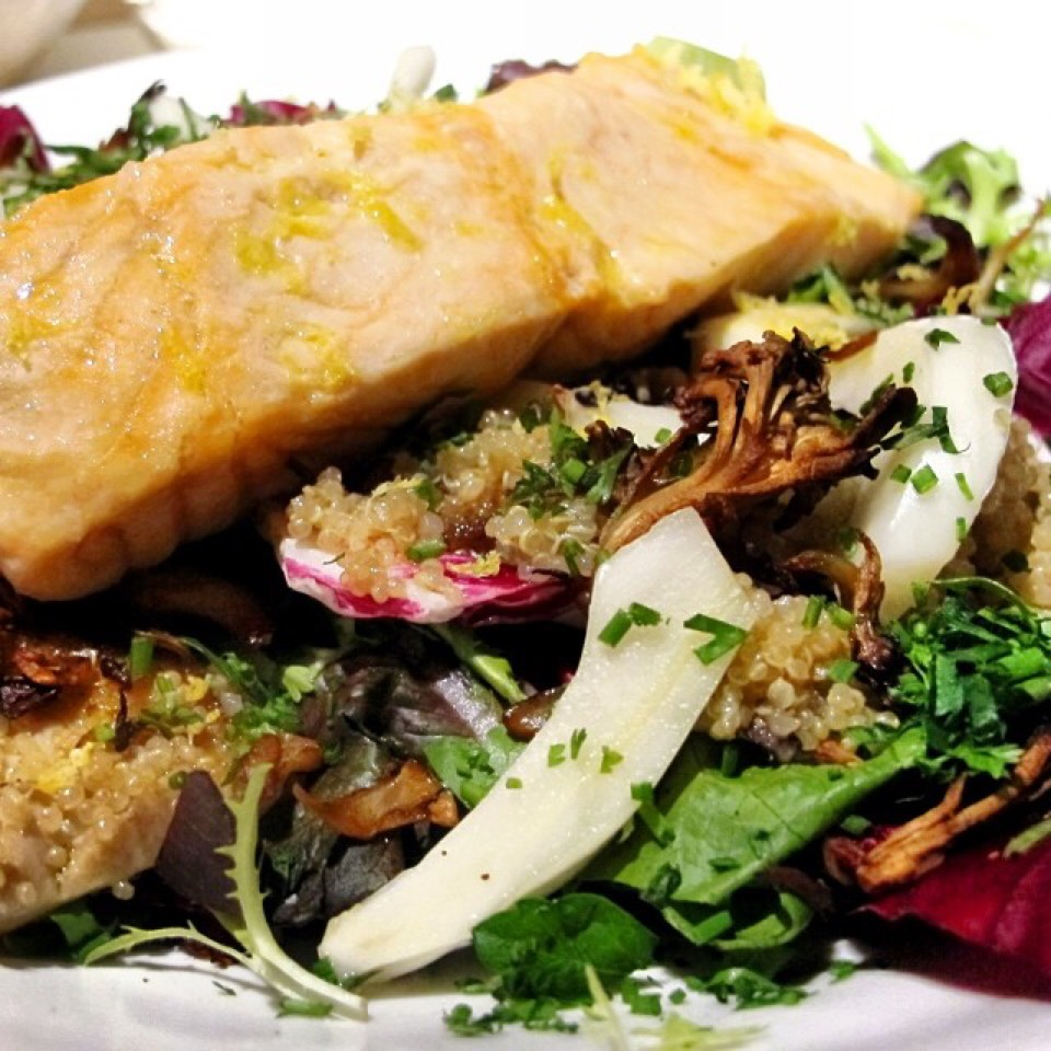 Salmon Salad, Quinoa, Radicchio, Mushrooms at ABC Kitchen on #foodmento http://foodmento.com/place/811