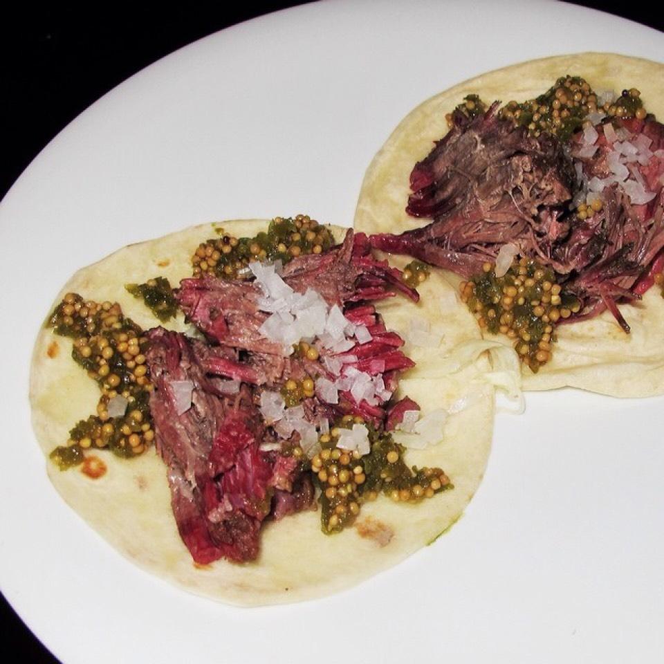 Short Rib Pastrami Taco, Pickled Cabbage, Mustard Seed Salsa on #foodmento http://foodmento.com/dish/16623