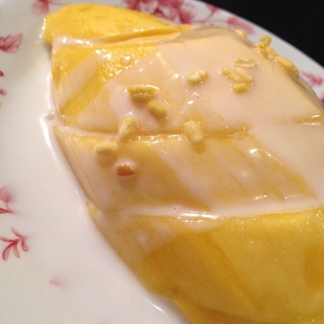 Mango with Sticky Rice at Kha on #foodmento http://foodmento.com/place/2020
