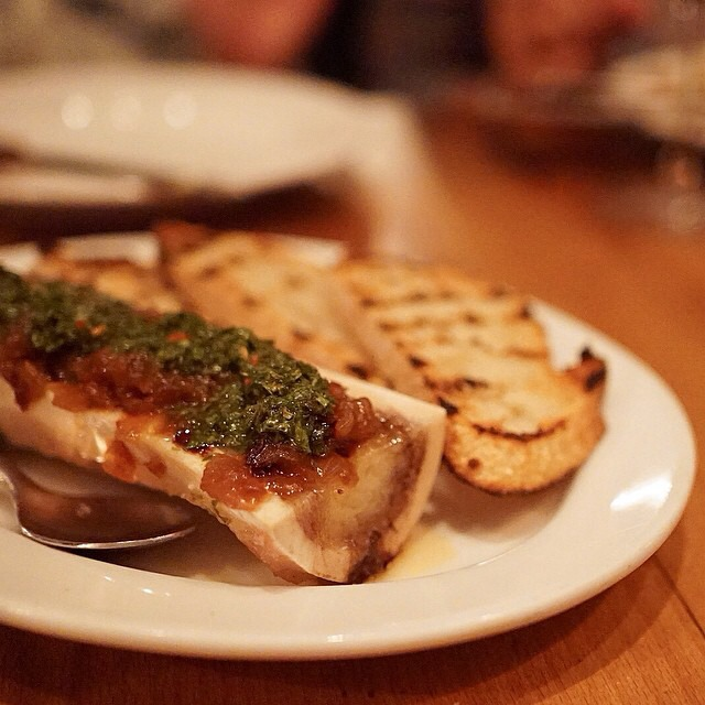 Marrow Bone, Chimichurri, Caramelized Onions at Animal on #foodmento http://foodmento.com/place/4182