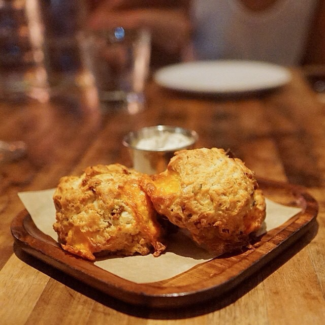 Bacon Cheddar Buttermilk Biscuits at Manhattan Beach Post on #foodmento http://foodmento.com/place/4184