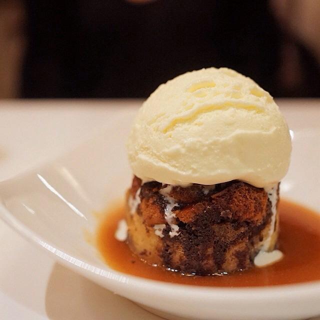 Pretzel and Chocolate Bread Pudding, Ice Cream on #foodmento http://foodmento.com/dish/17423