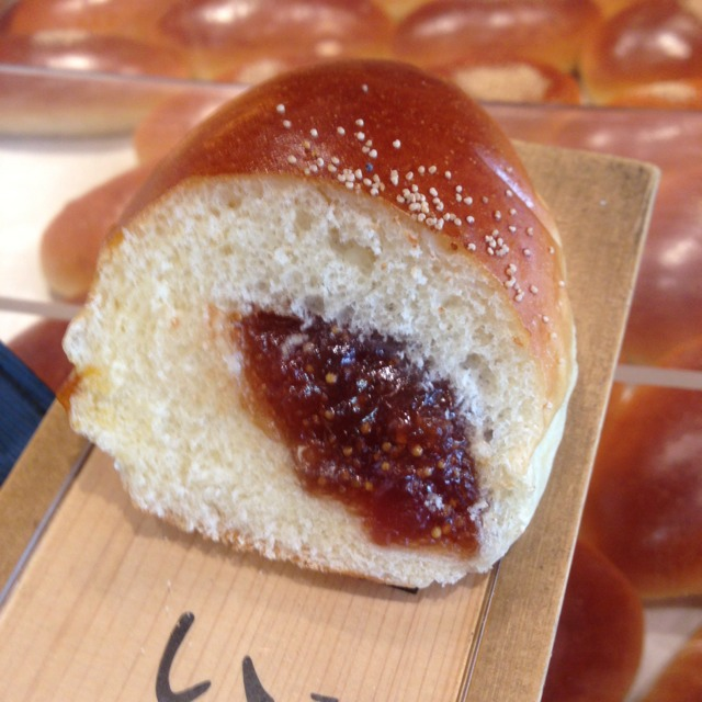 Anpan Filled Bun With Fig at 木村家總本店 銀座本店 on #foodmento http://foodmento.com/place/2248