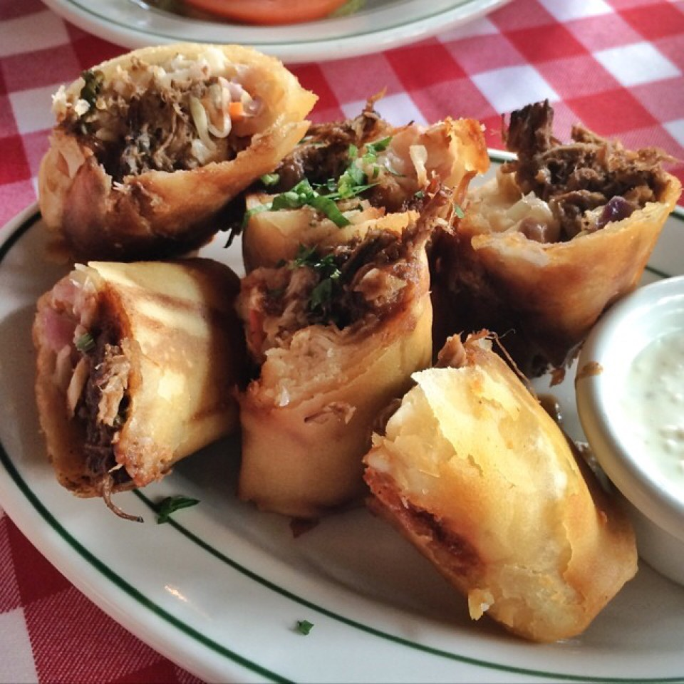 Short Rib & Mashed Potato Spring Rolls from P.J. Clarke's on #foodmento http://foodmento.com/dish/19890