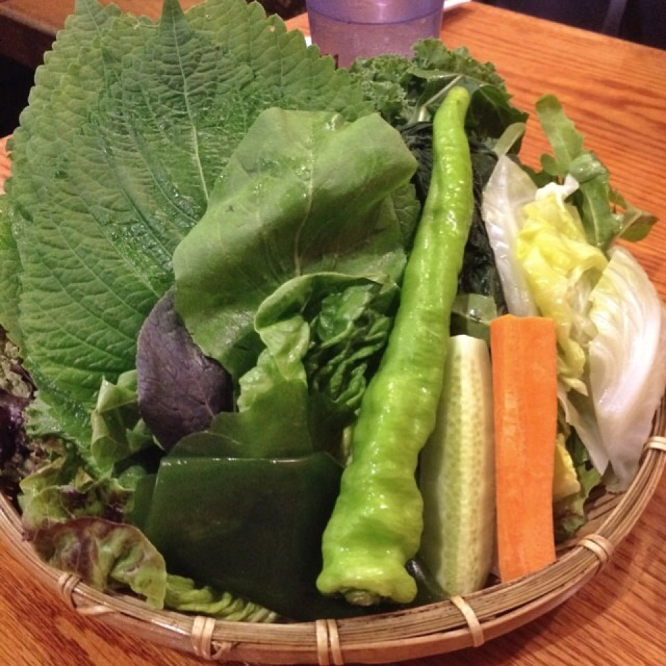 Basket Of Greens With BBQ at The Kunjip on #foodmento http://foodmento.com/place/3594