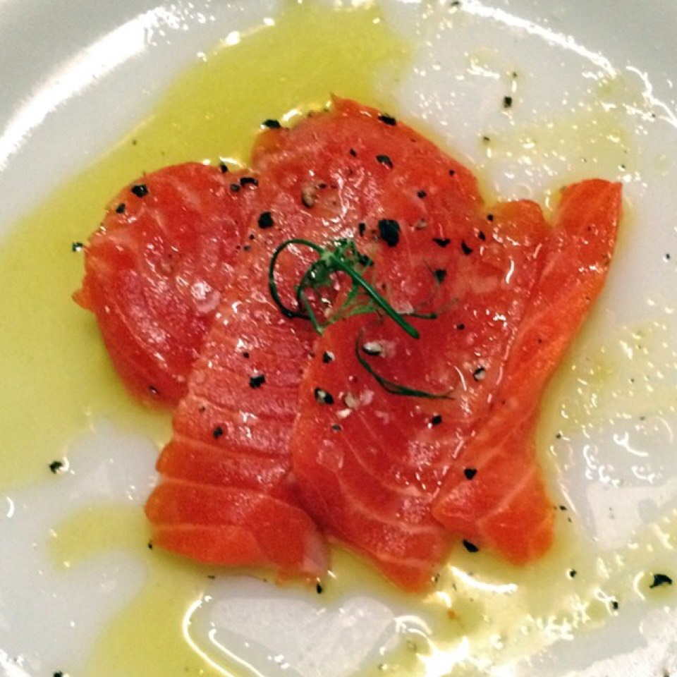 Sockeye Salmon Crudo at Greenpoint Fish & Lobster Co. on #foodmento http://foodmento.com/place/4959