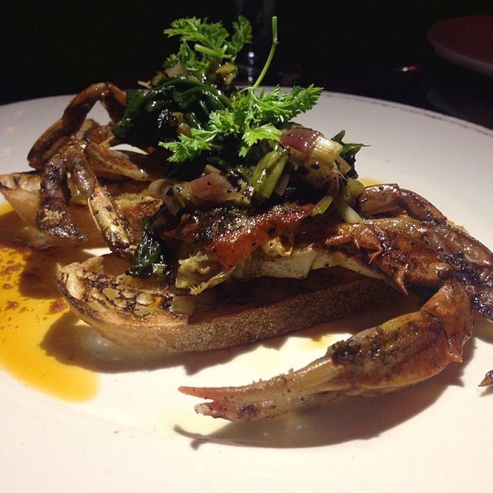 Soft Shell Crab Crostini at Gato on #foodmento http://foodmento.com/place/2849