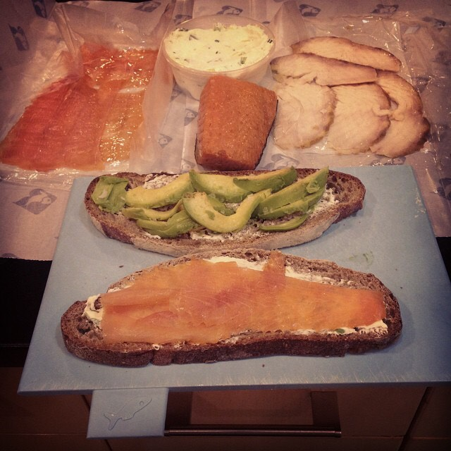 Hand-Sliced Smoked and Cured Salmon, Whitefish, Sturgeon, Sable at Russ & Daughters on #foodmento http://foodmento.com/place/1252