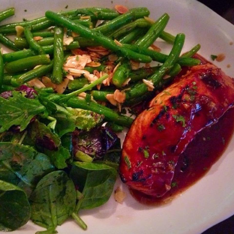 Salmon Teriyaki + 1 Veggie Side at Westville East on #foodmento http://foodmento.com/place/3330