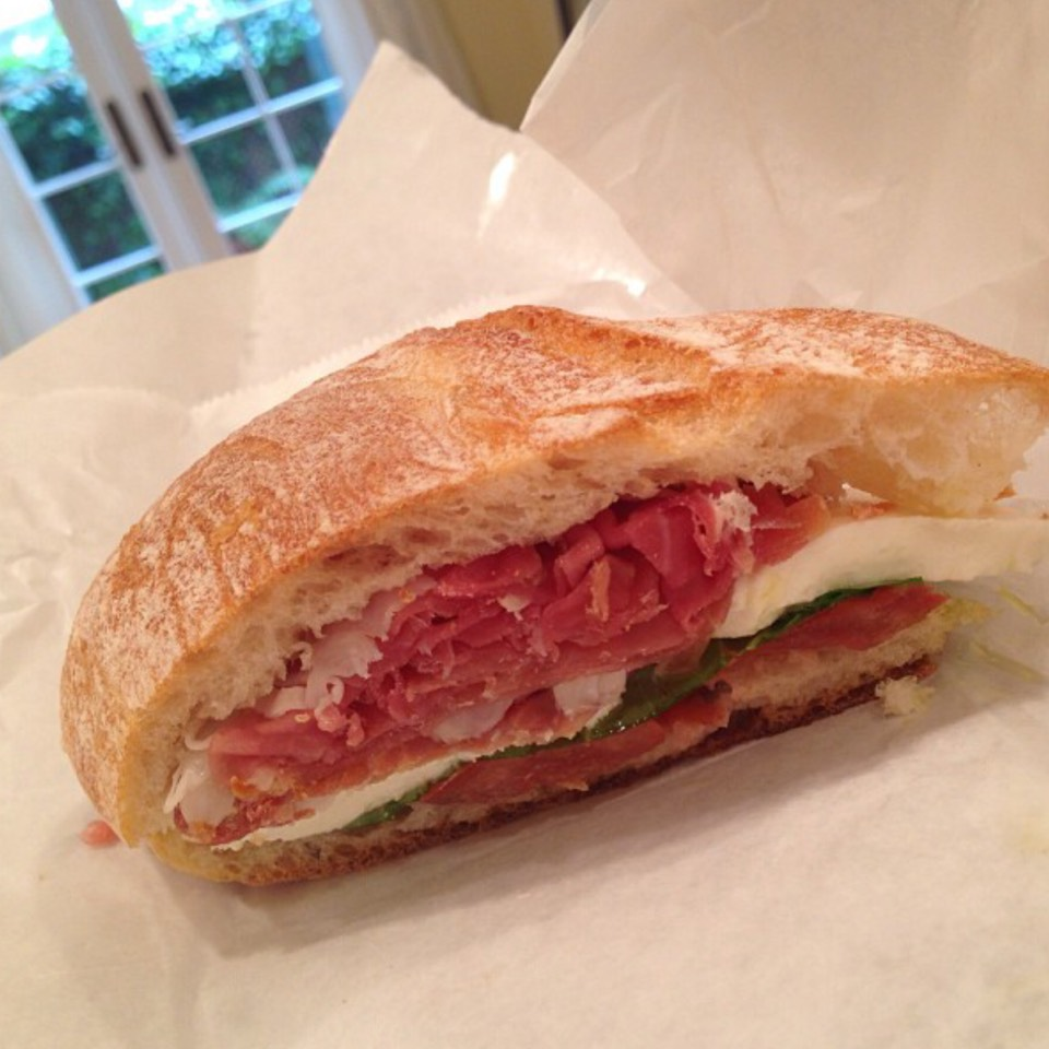 The Caprese With Prosciutto Sandwich at Lucca's Delicatessen on #foodmento http://foodmento.com/place/6567