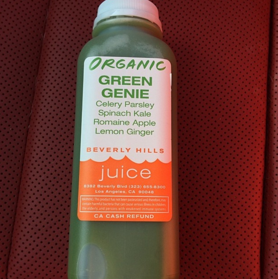 Green Genie Vegetable​ Juice at Beverly Hills Juice Club on #foodmento http://foodmento.com/place/7772