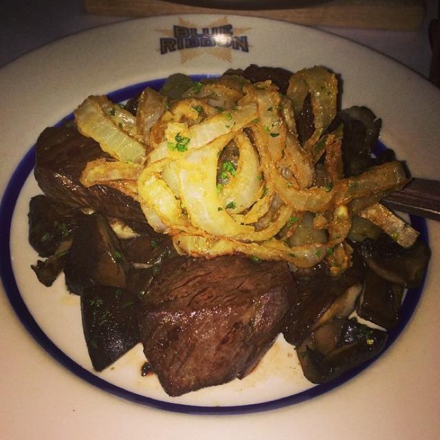 Hanger Steak at Blue Ribbon Brasserie on #foodmento http://foodmento.com/place/826