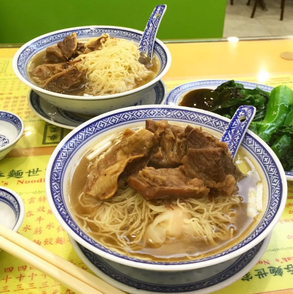 Brisket & Shrimp Wonton Noodle Soup at Mak's Noodle 麥奀雲吞麵世家 on #foodmento http://foodmento.com/place/9491